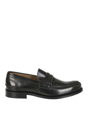 CHURCH'S: Mocassini e slippers - Mocassini Tunbridge pelle verdone