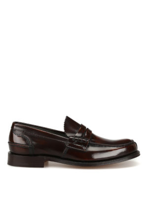 Church's: Loafers & Slippers - Tunbridge ebony leather loafers