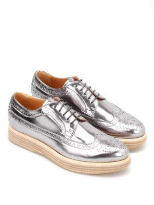 CHURCH'S: scarpe stringate online - Derby in pelle specchiata