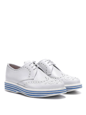 CHURCH'S: scarpe stringate online - Derby brogue con suola a righe