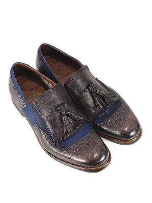 CHURCH'S: Mocassini e slippers online - Mocassini pelle e tessuto bicolore