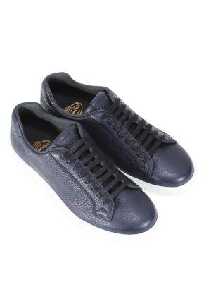 CHURCH'S: sneakers online - Sneaker in pelle a grana blu