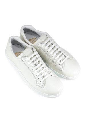 CHURCH'S: sneakers online - Sneaker in pelle a grana bianca