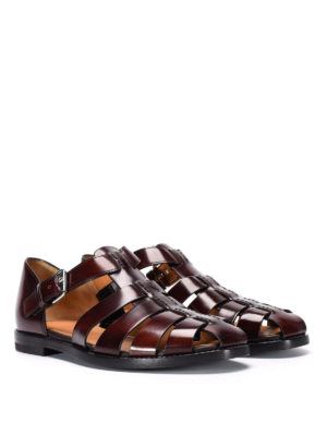 Church's: sandals online - Fisherman leather sandals