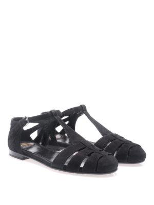Church's: sandals online - Rainbow black suede flat sandals