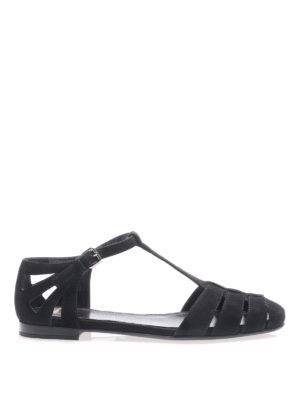 Church's: sandals - Rainbow black suede flat sandals