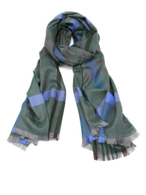 Church's: scarves - Check virgin wool scarf