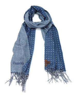 Church's: scarves - Herringbone virgin wool scarf