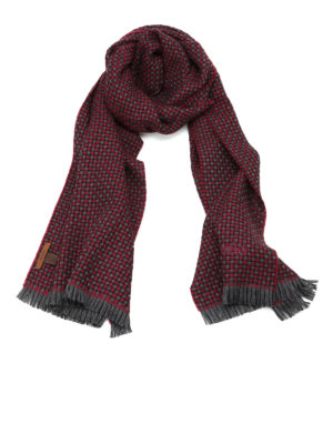 Church's: scarves - Jacquard virgin wool scarf