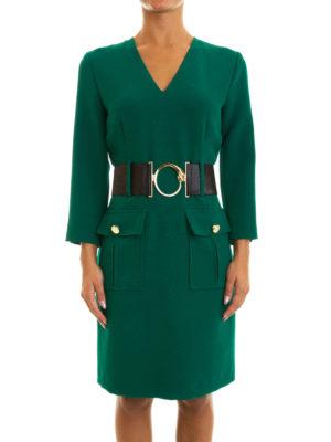Class Roberto Cavalli: knee length dresses online - Snake buckled belted dress