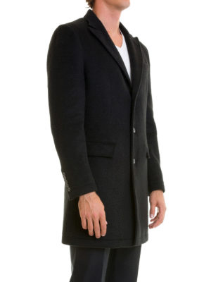 Class Roberto Cavalli: short coats online - Wool blend single breasted coat