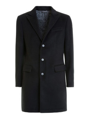 Class Roberto Cavalli: short coats - Wool blend single breasted coat