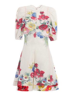 Céline: jumpsuits - Floral painting gauze jumpsuit