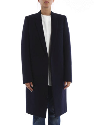 Céline: knee length coats online - Structured wool coat