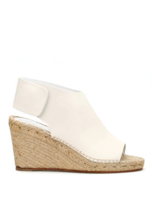 Céline: sandals - Wedge espadrille sandals