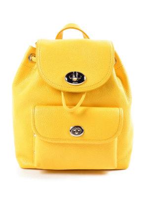 Coach: backpacks - Mini turnlock leather backpack
