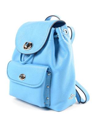 Coach: backpacks online - Mini turnlock leather backpack
