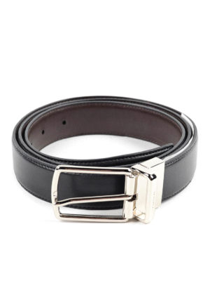 Coach: belts - BUCKLED LEATHER REVERSIBLE BELT