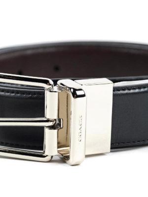 Coach: belts online - BUCKLED LEATHER REVERSIBLE BELT