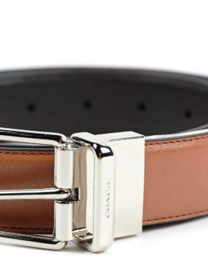 Coach: belts online - GRAINY LEATHER REVERSIBLE BELT