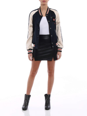 Coach: bombers online - Reversible college bomber jacket