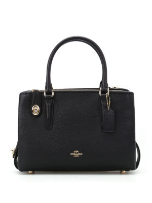 Coach: bowling bags - Brooklyn 28 black leather tote