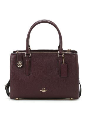 Coach: bowling bags - Brooklyn 28 purple leather tote