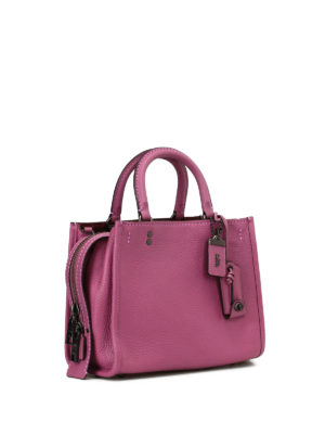 Coach: bowling bags online - Rogue 25 grained leather bag