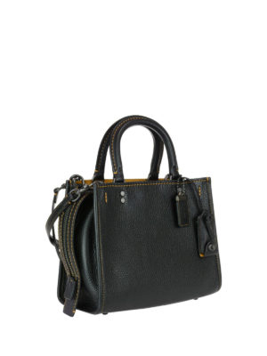 Coach: bowling bags online - Rogue 25 tanned leather bowling bag