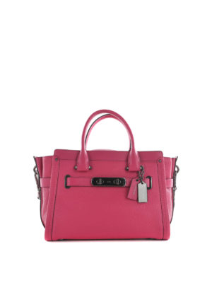 Coach: bowling bags - Swagger 27 Carryall leather bag