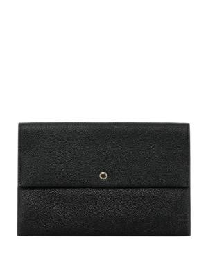 COACH: pochette - Pochette in pelle martellata nera