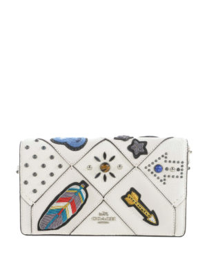 Coach: clutches - Embellished patchwork clutch