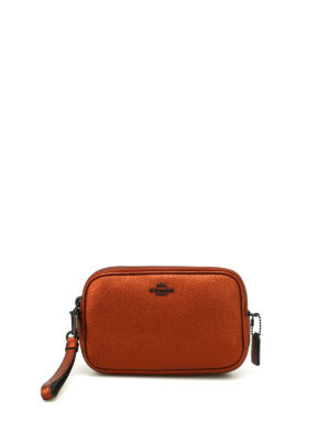 Coach: clutches - Metallic hammer leather crossbody