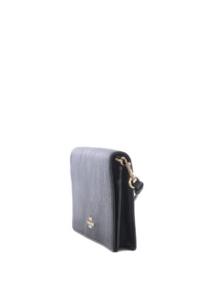 Coach: clutches online - Black hammered leather clutch