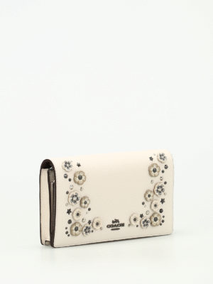Coach: clutches online - Foldover embellished small bag