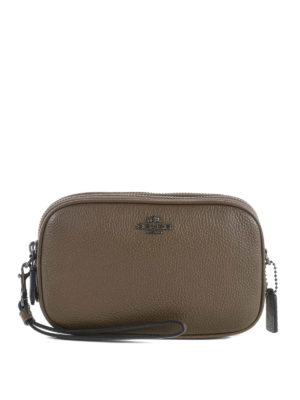 Coach: clutches - Pebble leather crossbody clutch
