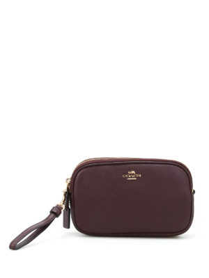 Coach: cross body bags - Grainy leather cross body clutch