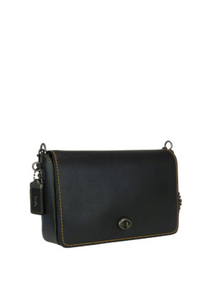Coach: cross body bags online - Dinky 24 tanned leather bag