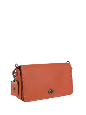 Coach: cross body bags online - Dinky tanned leather crossbody
