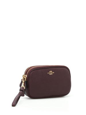 Coach: cross body bags online - Grainy leather cross body clutch