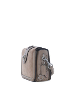 Coach: cross body bags online - Page embossed Tea Rose bag