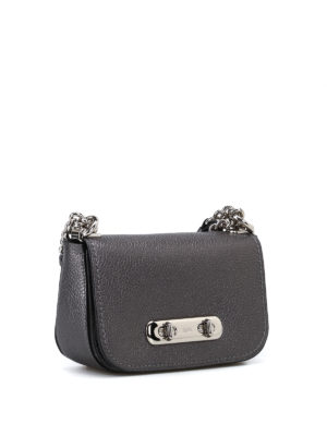 Coach: cross body bags online - Swagger 20 metallic leather bag