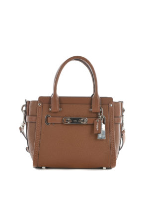 Coach: cross body bags - Swagger 21 leather crossbody