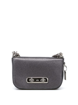 Coach: cross body bags - Swagger 20 metallic leather bag