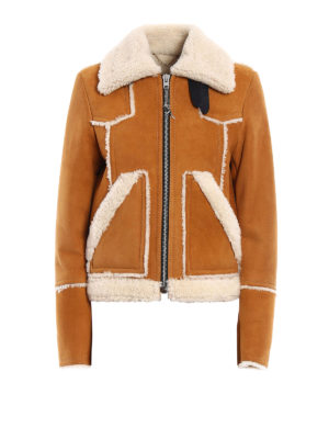 Coach: Fur & Shearling Coats - Shearling lumber jacket