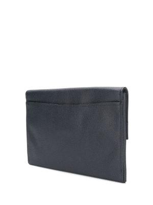 COACH: pochette online - Pochette in pelle martellata blu