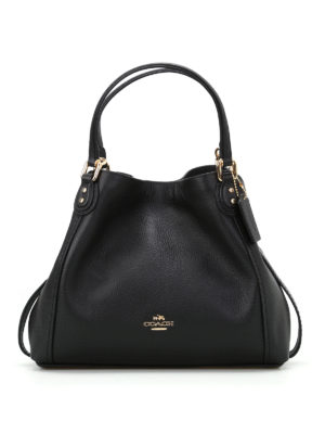Coach: shoulder bags - Edie 28 black grainy leather tote