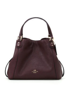 Coach: shoulder bags - Edie 28 black purple leather tote