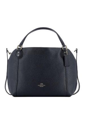 COACH: borse a spalla - Borsa Edie 28 in pelle blu