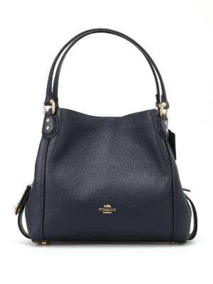 Coach: shoulder bags - Edie 31 black leather shoulder bag